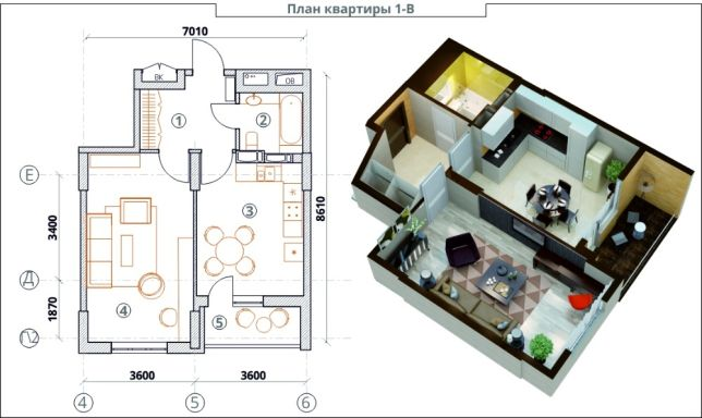 Создание проекта перепланировки квартиры в Москве