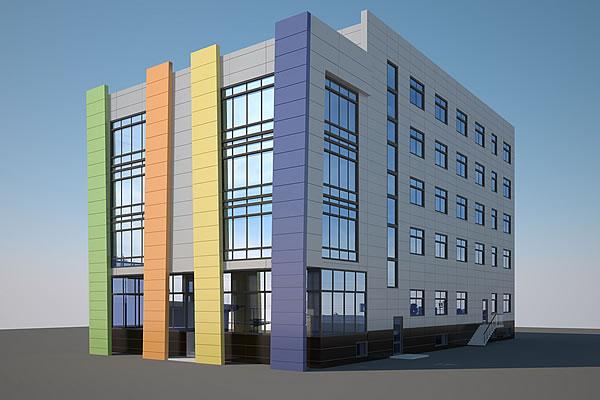 разработка проекта фасада здания в Москве и Подмосковье