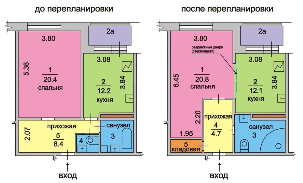 Стоимость проекта перепланировки квартиры в АПБ Град