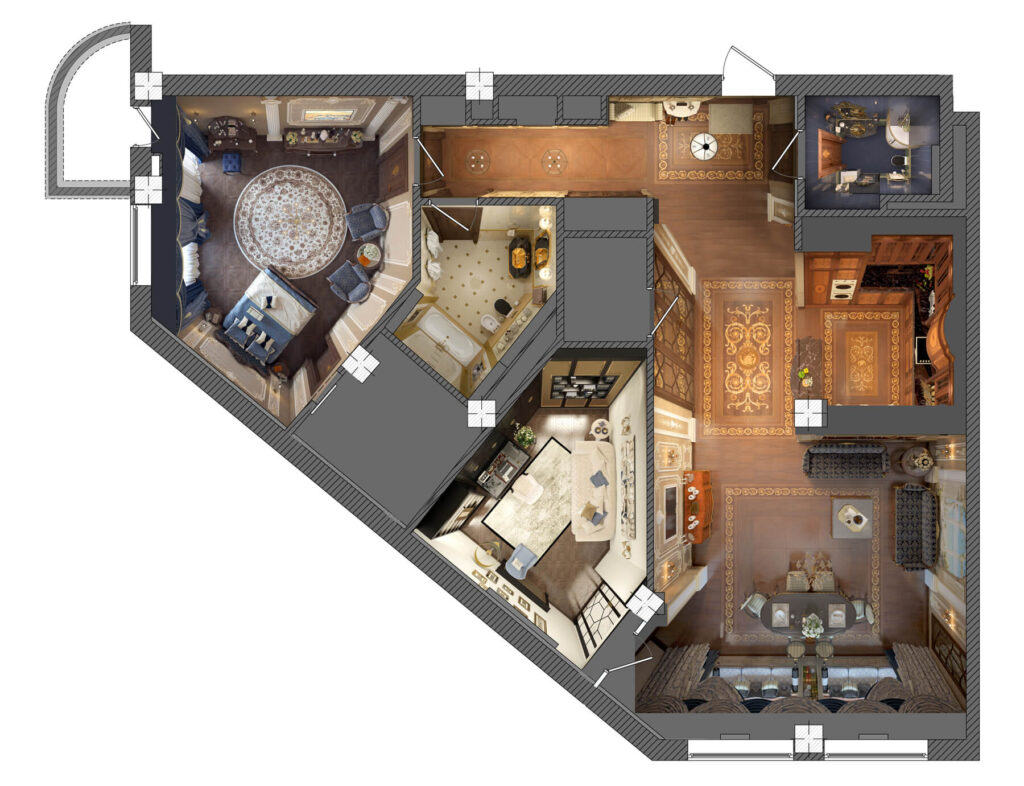 Проект квартиры: заказать в АПБ Град быстро и выгодно